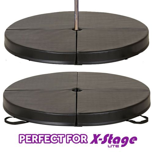 Black Dance Mat for X-Stage 1.6m 100mm